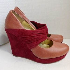 Seychelles pink wedge heels